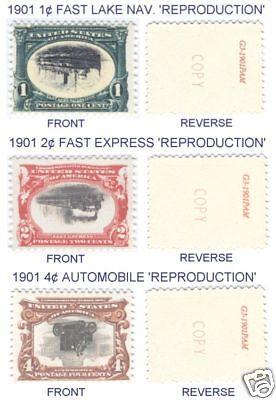 1901 PAN-AM ERROR INVERTS 294a, 295a & 296a REPLICAS