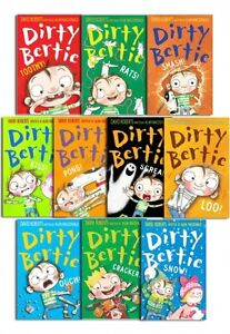 Dirty-Bertie-series-Collection-David-Roberts-10-Books-Set-Pack-bundle-NEW-Toothy