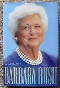 Barbara Bush Signed Book