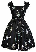 Black 50s Swing Dress