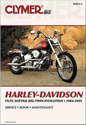 1984-1999 Harley Softail FLS FXS Repair Service Workshop Shop Manual Book M4213