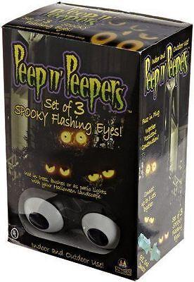 Peep N Peepers Halloween Lights (Peep n' Peepers Set Of 3 Flashing Eyes Halloween Lights, New In)