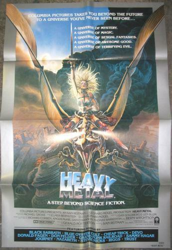 heavy metal movie poster ebay. Black Bedroom Furniture Sets. Home Design Ideas