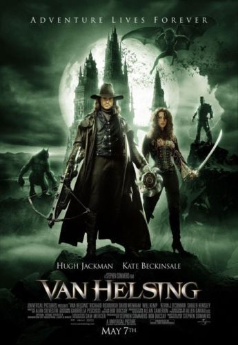 VAN HELSING PROMO POSTER ONE SHEET ORIGINAL 2004 27X40 HORROR DOUBLE SIDED