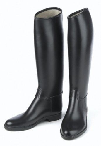 Derby Mens Lined Rubber English Riding Boots with Show Appearance