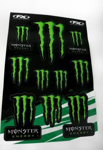 monster energy sticker kit ebay. Black Bedroom Furniture Sets. Home Design Ideas