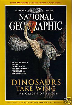 National Geographic July 1998 Dinosaurs Take Wing Yukon