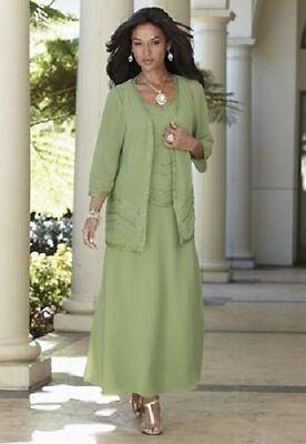 Green Goddess Beaded Jacket Dress Formal NEW size XL Midnight - Green Goddess Dress