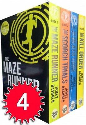 Maze Runner Series 4 books Set Collection James Dashner For Hunger Games Fans