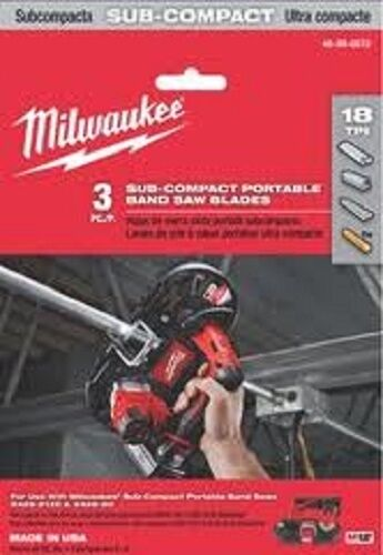 Milwaukee 48-39-0572, 27in. x 18 tpi Sub-Compact Portable Band Blade 3 Pk