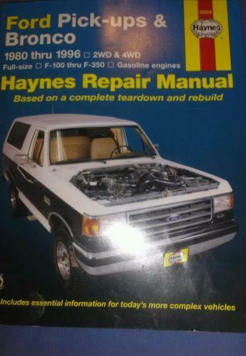 1996 ford bronco manual