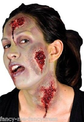 Halloween Oozing Wounds Zombie Special Effects Make Up Fancy Dress Costume Kit