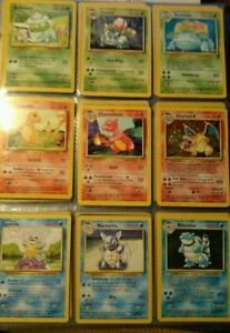 Buying First Generation Pokemon Cards Charizard Blastoise HOLO