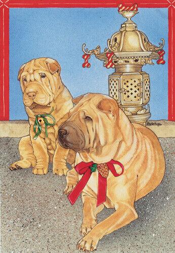 Shar-pei Christmas Cards Set of 10 cards & 10 envelopes