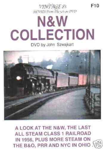NORFOLK & WESTERN COLLECTION SZWAJKART DVD-R VIDEO