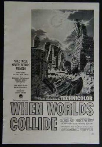 When Worlds Collide George Pal 1951 Paramount Movie AD