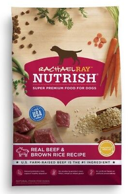 - Rachael Ray Nutrish Real Beef and Brown Rice Recipe Flavor Dry Dog Food