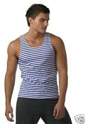Blue White Striped T Shirt