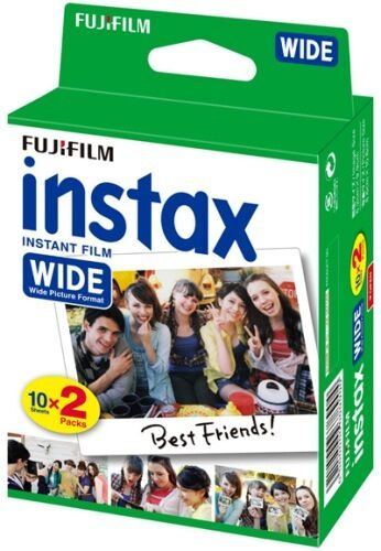 20 Prints Fujifilm Instax Wide Instant Color Film for Fuji 200, 210, 300 Camera