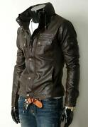 Mens Leather Jacket Small