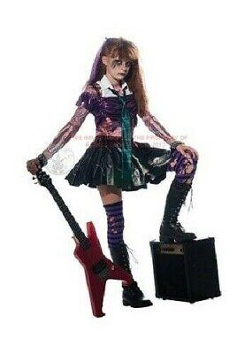 Gothic Zombie Punk Rocker EMO Corpse Fancy Dress Girls Kids Halloween Costume - Zombie Punk Rocker Halloween Costume
