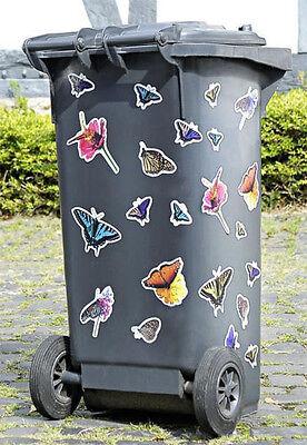 Mülleimer Mülltonnen Aufkleber Mülltonnenaufkleber Schmetterlinge 22tlg. NEUWARE