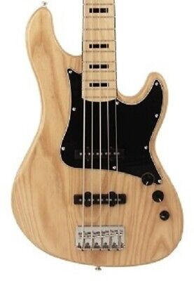 Cort Classic GB55JJ 5 String Jazz Electric Bass Guitar Swamp Ash Body