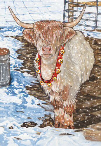 Scottish Highland Cow Christmas Cards Set of 10 cards & 10 envelopes