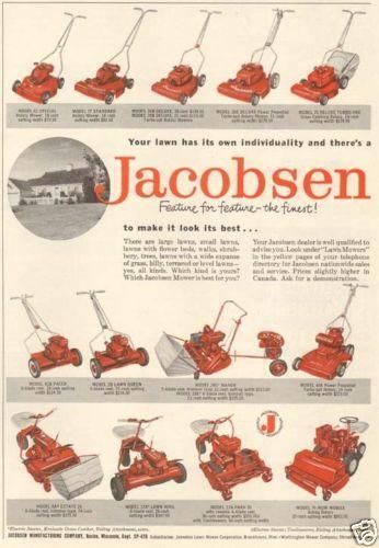 vintage jacobsen mower ebay. Black Bedroom Furniture Sets. Home Design Ideas