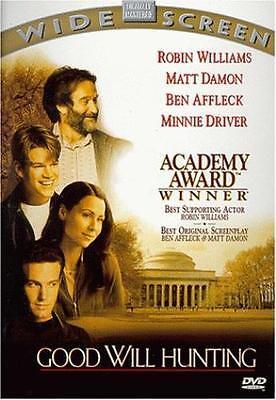 Good Will Hunting  Dvd Robin Williams  Matt Damon  Ben Affleck  Stellan Skarsg R
