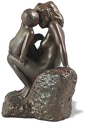 Child Bronze Figurine - Auguste Rodin Mother with Child Bonded Bronze Sculpture Statue Figurine