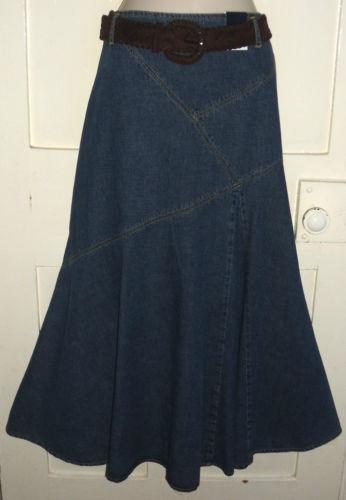 denim skirt size 16 ebay