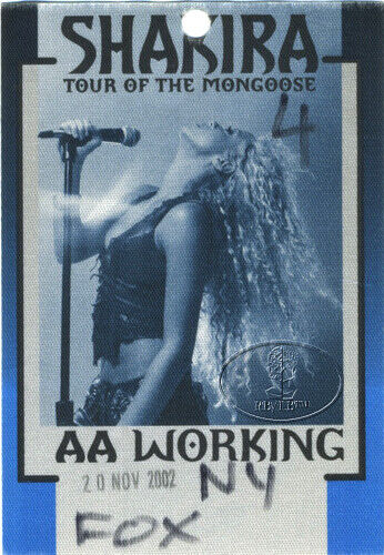 SHAKIRA 2002 MONGOOSE TOUR Backstage Pass Crew