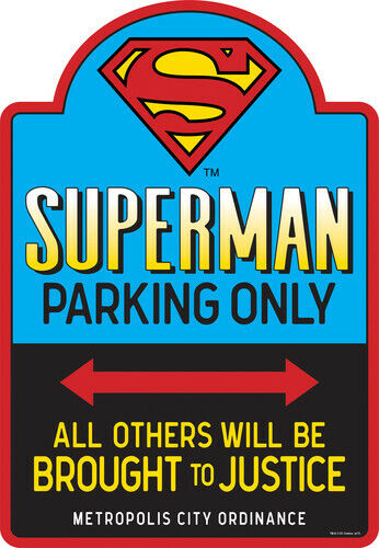 Superman Parking Embossed Tin Sign [New ] Decor