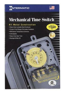 Intermatic T104R Mechanical Time Switch Electric Hot Tub Timer, 40Amp ()