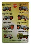 Blechschild Traktor