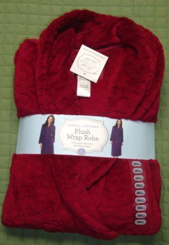 Red Plush Robe Ebay