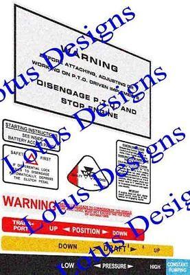Massey Ferguson 135 148 Warning Stickers Decals