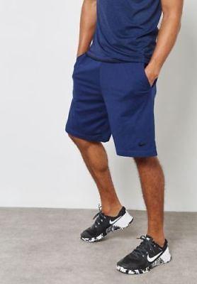 "Nike Men's Size Large 9"" Dri-FIT Navy Workout Training Shorts 842267-429"