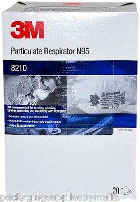 3m 8210 Particulate Respirator Mask N95 Box Of 20 New Free Shipping Ms92530