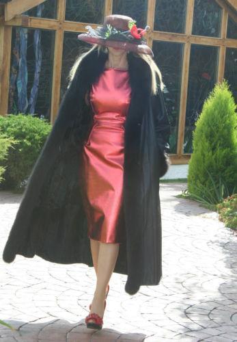 Black Fox Fur Coat Ebay