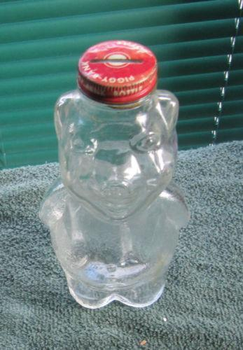 Clear Glass Piggy Bank Ebay