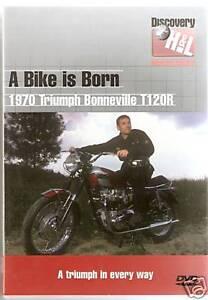 A BIKE IS BORN DVD 1970 TRIUMPH BONNEVILLE T120R Mark Evans (discovery)