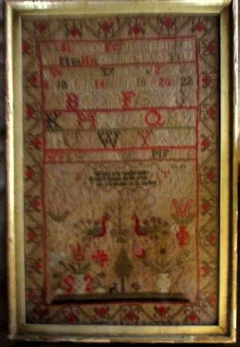 Antique Needlepoint Sampler Ebay