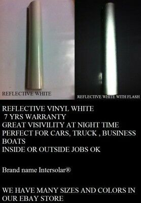12 X 48 White Reflective Vinyl Adhesive Cutter Sign Special Price Signs