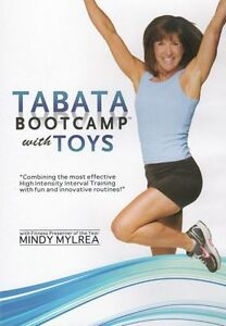 MINDY MYLREA TABATA BOOTCAMP WITH TOYS 4 WORKOUT EXERCISE DVD NEW SEALED FITNESS