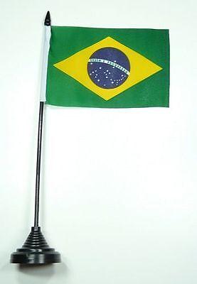 Fahne / Tischflagge Brasilien NEU 11 x 16 cm Flaggen