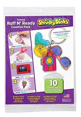 Shrinky Dinks Creative Pack 10 Sheets Frosted Ruff n' Ready for Ages 5+ Kids