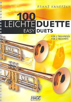 100 leichte Duette : für 2 Trompeten + 1 Bleistift mit Musikmotiv
