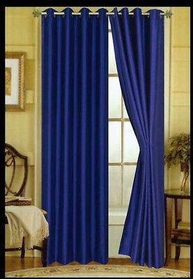 FAUX SILK  Window Treatments Curtains Drape GROMMETS 63